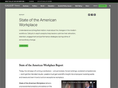 state american workplace gallup article